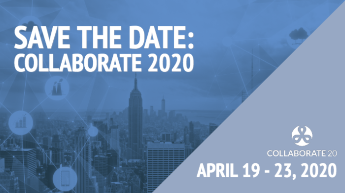 Save the Date for COLLABORATE20